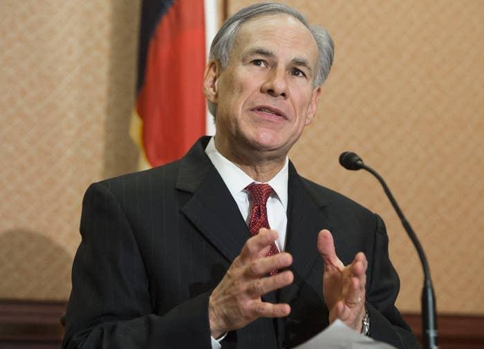 Texas Republican Governor Greg Abbott