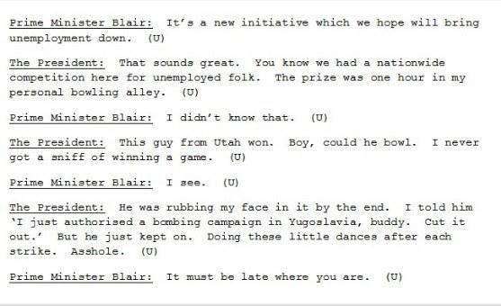 That Hilarious Tony Blair and Bill Clinton Transcript ...