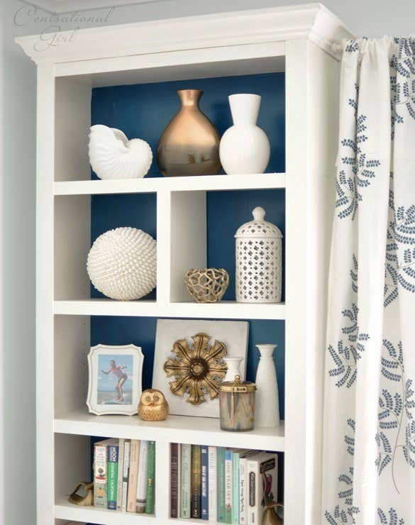 See how she did this to an Ikea Billy bookcase here.
