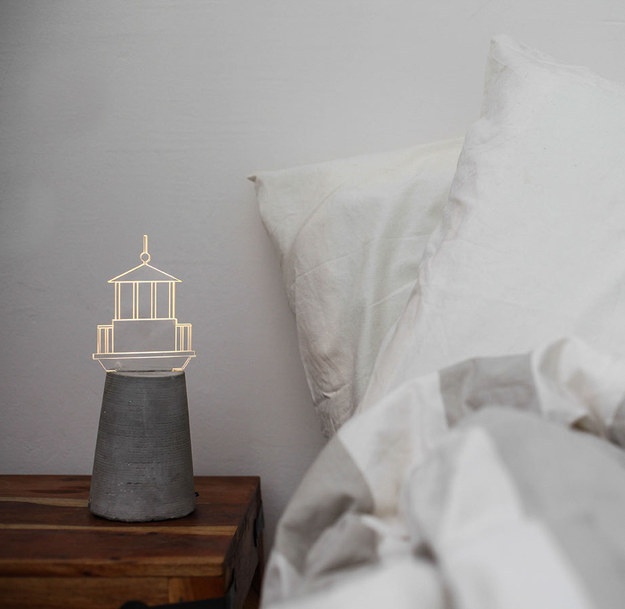 A lighthouse to guide you to your bed.