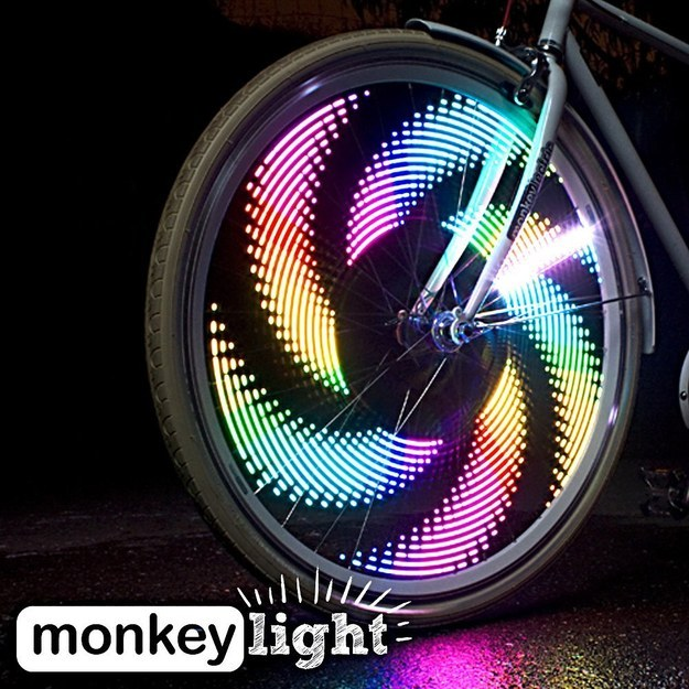 A light show you can attach to the wheels of your bike.