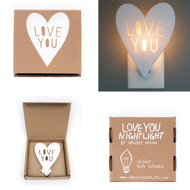 A nightlight that doubles as a valentine.