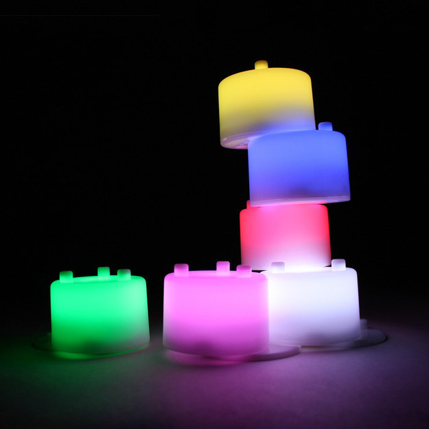Colorful lights to build a tower with.