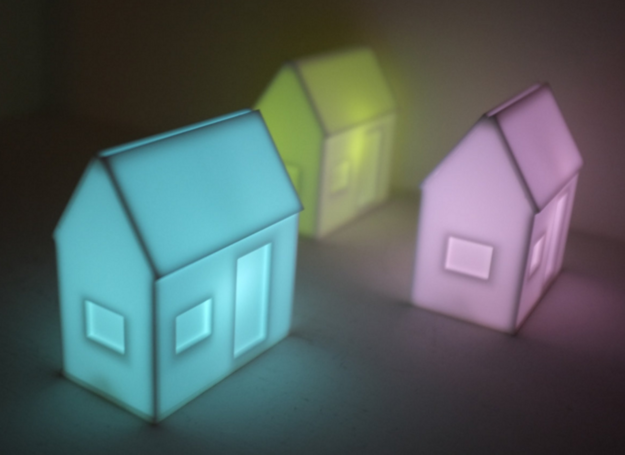 A pint-sized luminescent cottage.