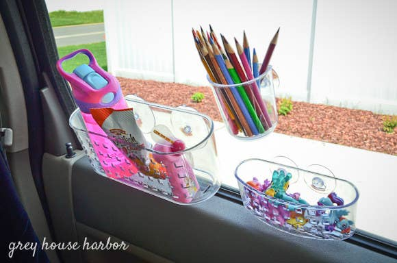 Little people can make a big mess. Check out this hack and a few other road trip ideas here.