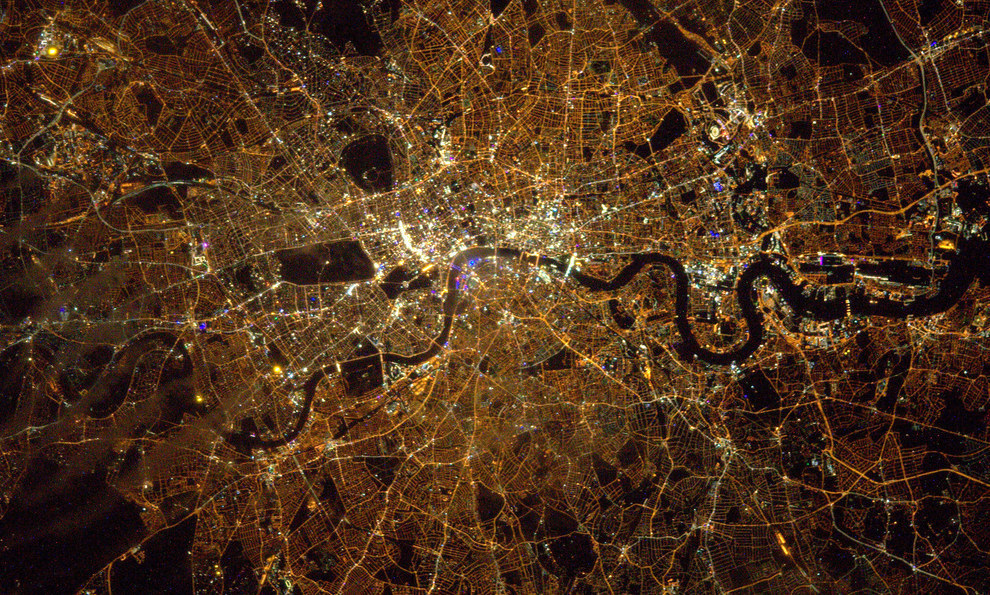 Tim Peake, the British astronaut on board the International Space Station, has been posting some amazing photos from space. Like this one he took of London.