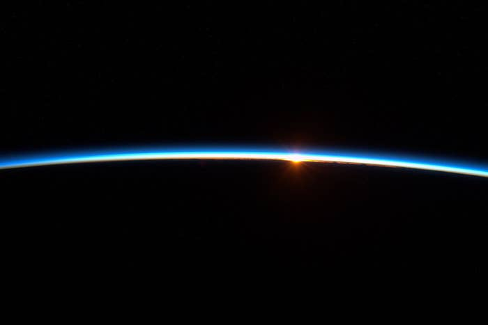 """""""As the International Space Station orbits Earth astronauts can see 16 sunrises every 24 hours."""""""