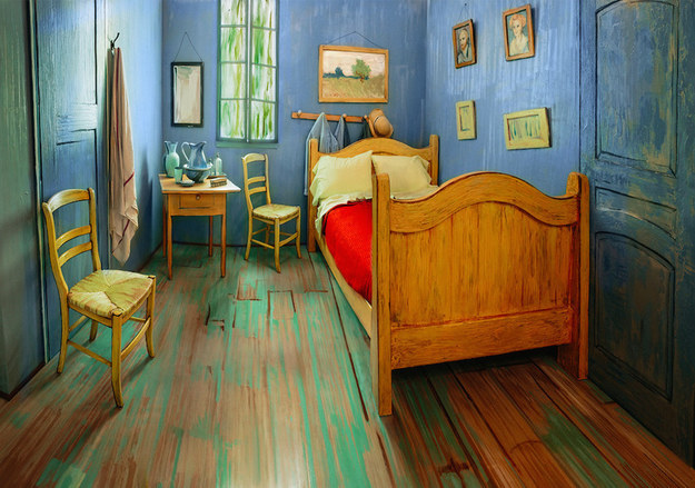 "To celebrate an upcoming Vincent van Gogh exhibition, the Art Institute of Chicago has re-created the iconic ""Bedroom in Arles"" in a modern apartment building and is renting it out on Airbnb."