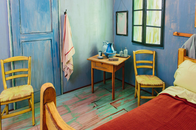 """This room will make you feel like you're living in a painting. It's decorated in post-impressionist style, reminiscent of Southern France and times gone by,"" the Airbnb listing reads."