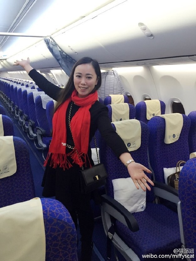 Fact: Most of us will be in economy class for most of our lives and it's not gonna be pleasant — unless we get insanely lucky like this woman, who was the only passenger with an economy-class ticket on a Chinese domestic flight last week.
