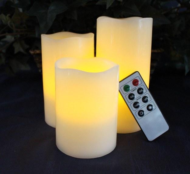 Estas velas para cuando quieres encender una vela, pero no quieres ~encender~ una vela.