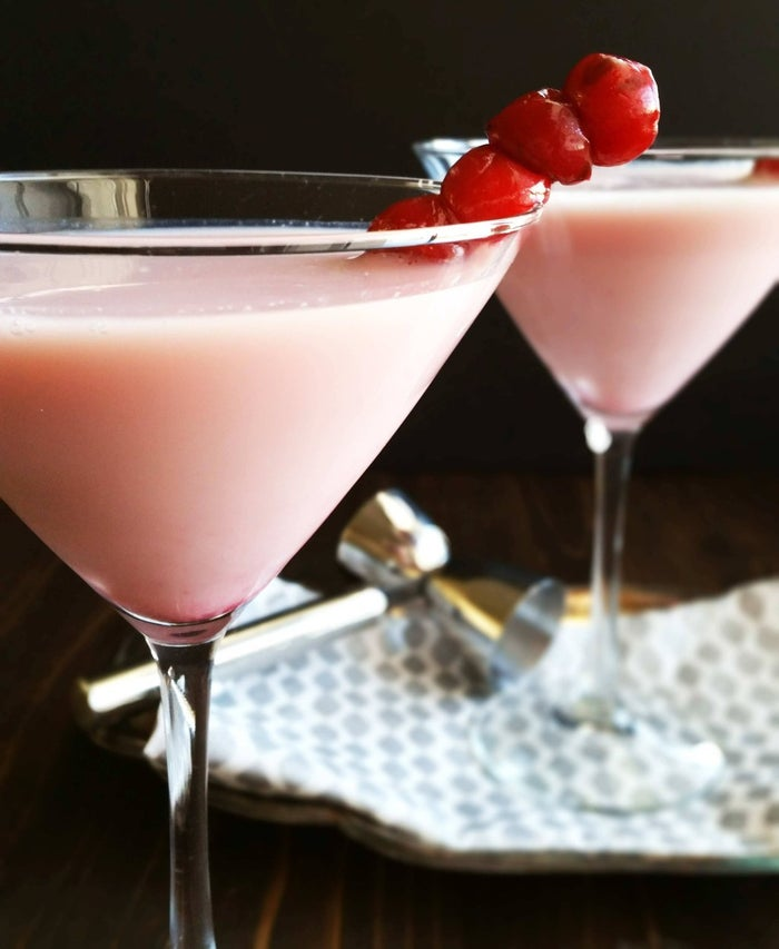 This pretty pink combines chocolate and cranberry in one martini! Recipe here.