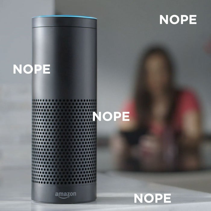 It's a Bluetooth speaker that isn't portable. Its smart software, Alexa, isn't as comprehensive as Google Now or Siri. I already had a home audio system and a virtual assistant in my phone – did I really need another $180 gadget?