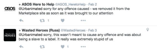 ASOS s est excusé sur Twitter  «nous sommes désolées pour l indignation  causée – nous l avons retiré du site dès que nous avons ... 7b4cf53a47a5