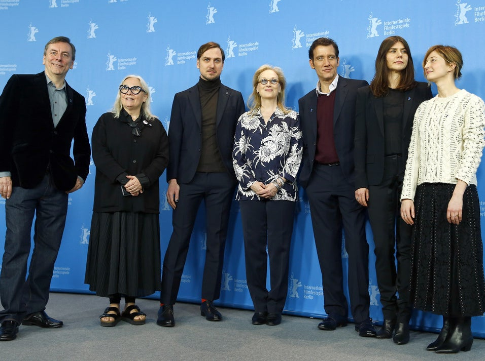 The jury members at the 2016 Berlinale Film Festival in Germany.