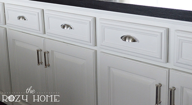 Or add a row of trim to all of your drawers.