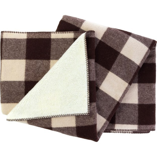 Or this wool blanket worthy of a sherpa: