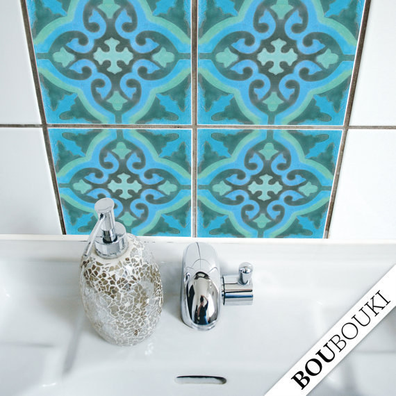 Tile decals are an easy and removable way to change up your backsplash, too.