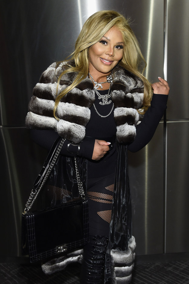 Lil' Kim was one of the many non-family members who also showed up to celebrate Yeezy.