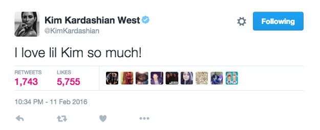 Kim Kardashian West wasn't shy about how much she enjoyed Lil' Kim's company.