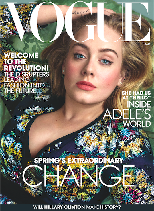 Adele, queen and ruler of the universe, is currently gracing the cover of Vogue looking flawless as hell.