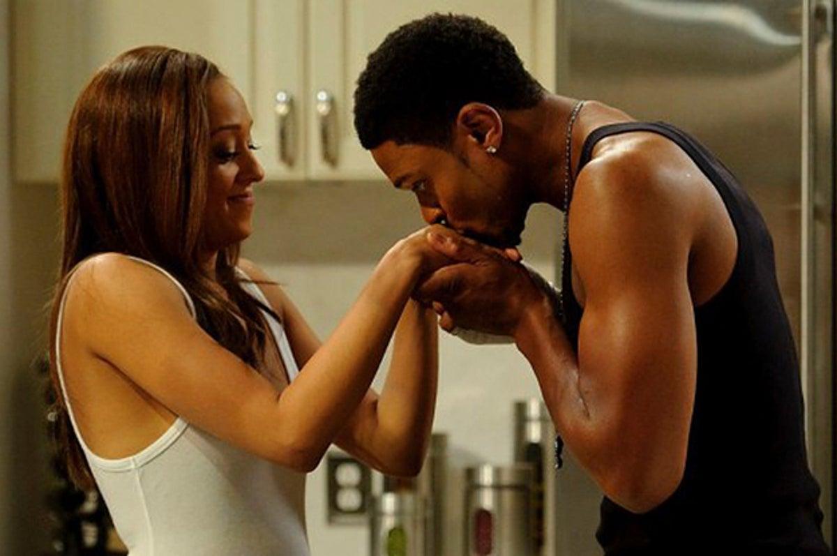 Ebony Couple Making Baby