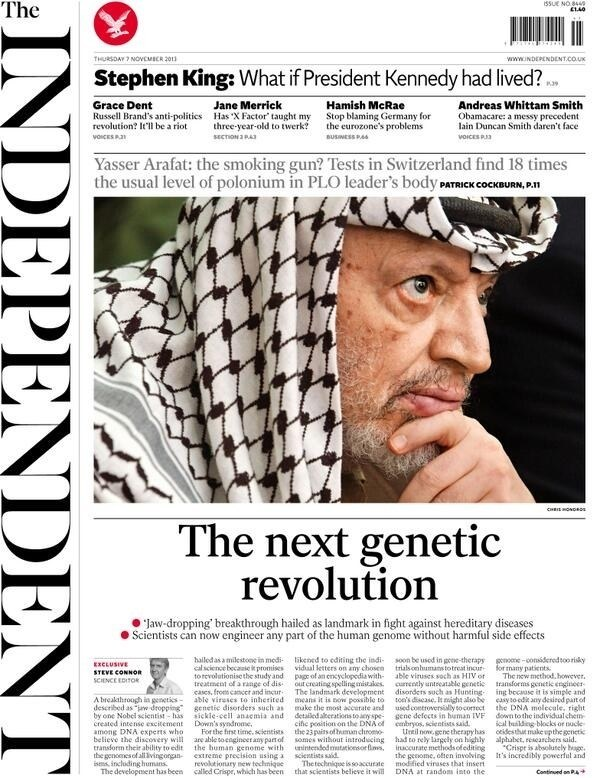 From November 2013 The Independent started putting the masthead on the left-hand side.
