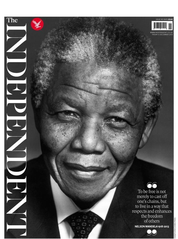 And something similar for the death of Nelson Mandela in December 2013.