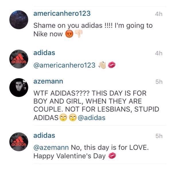 Though Adidas was still quick to clapback to the haters.