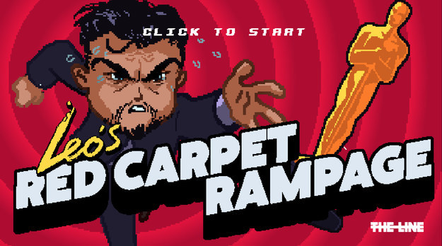 This arcade-style video game lets you play as Leonardo DiCaprio and chase an Oscar down the red carpet, and it's completely addictive.