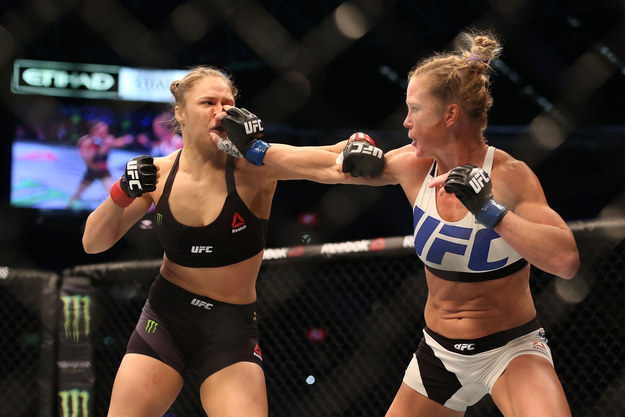 Rousey suffered her first, and only, professional loss to Holm at UFC 193 in November.