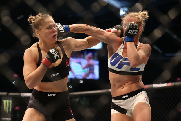 """""""I got clipped in the first exchange, so I was knocked out on my feet the first time I got hit,"""" Rousey said."""