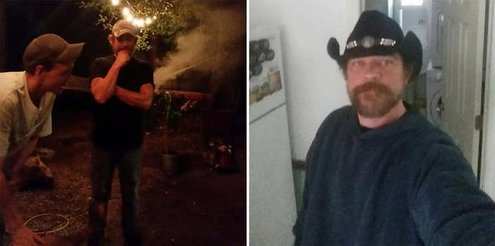 """The 46-year-old's last relationship ended about three months ago after more than a year together. He's looking for someone close to him in age who likes bonfires in the summer, camping, and hanging out in the """"man cave"""" in his garage.""""Finding someone that doesn't smoke weed is one of my requirements, and that's pretty hard to do nowadays,"""" he added."""