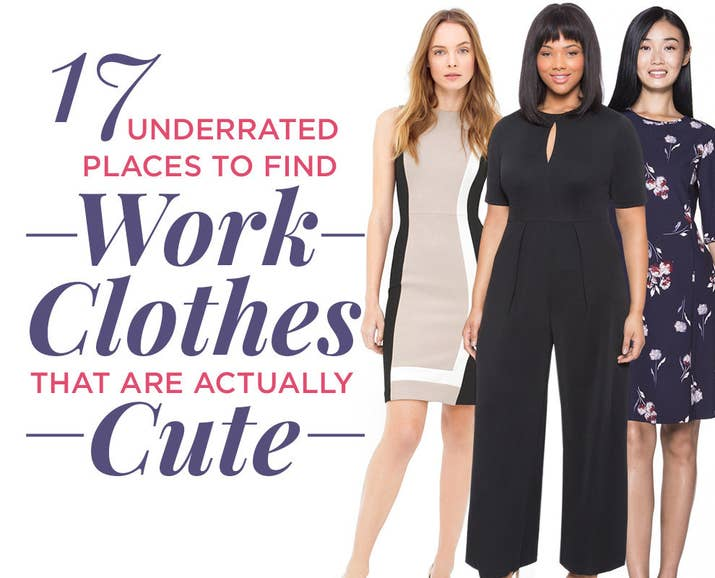 17 Surprisingly Good Places To Find Cute Clothes For Work