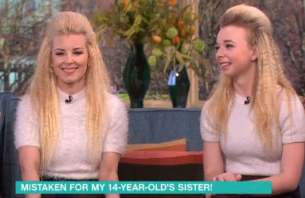 Over here in the UK, Donna Galt, 33, and her 14-year-old daughter, Mya, said they too were often mistaken for sisters.