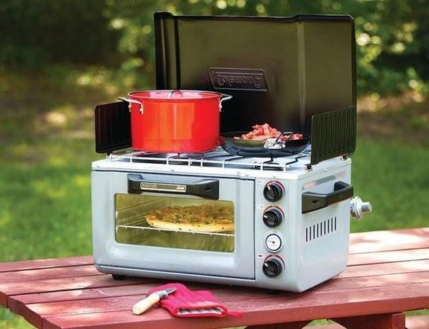 Este combo de estufa y horno que significa que puedes llevar tu cocina a cualquier parte: