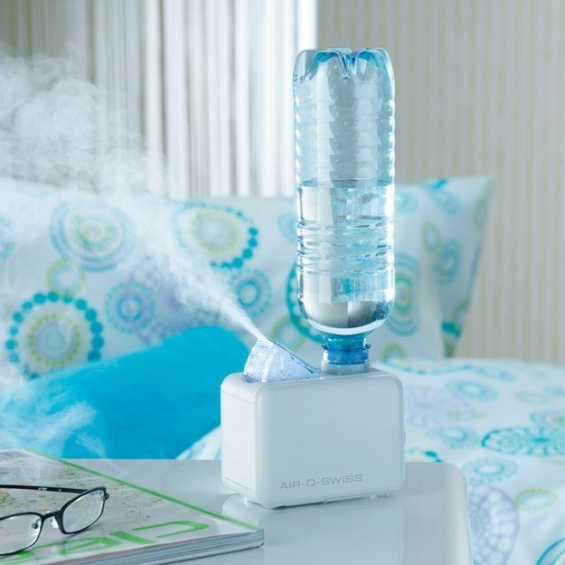Este humidificador portátil que no pide más que una botella de agua: