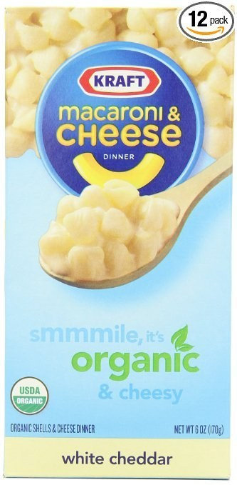 This 12-pack of organic Kraft Mac & Cheese you don't have to feel bad about eating because at least it's ~healthy-ish~ ($23.95).