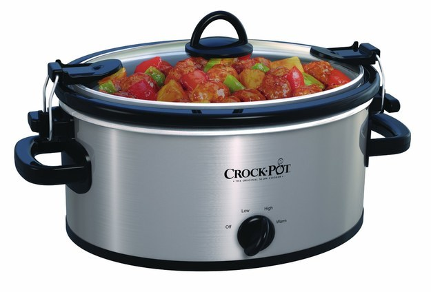 This Crock-Pot that will slow-cook your food while you're away at work and then not spill in your car on your way to that potluck dinner ($30.40).