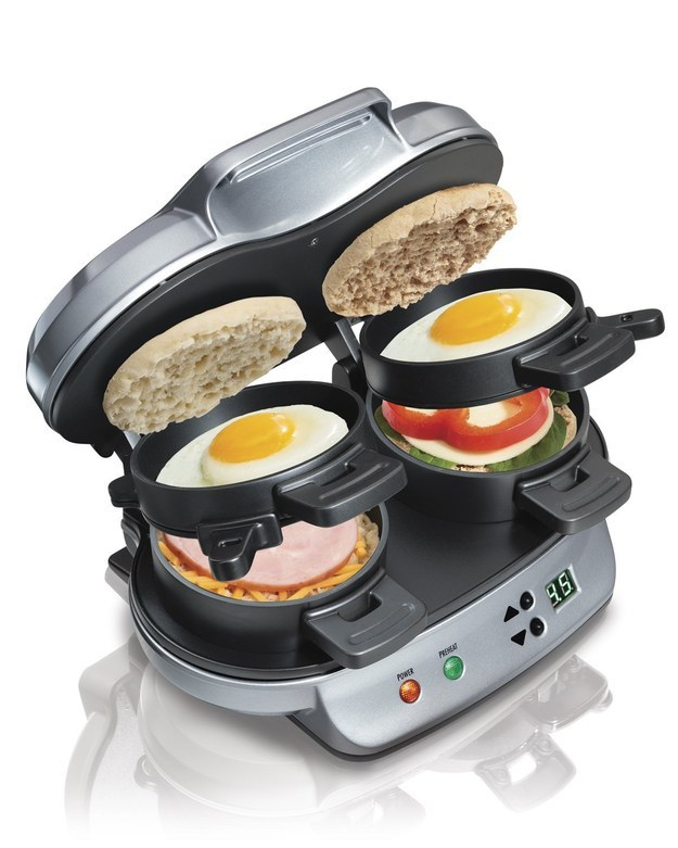 This breakfast sandwich maker that apparently allows English muffins to levitate ($39.92).