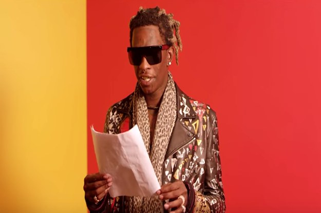 Young Thug Reading The Lyrics To His Song Quot Best Friend Quot Is