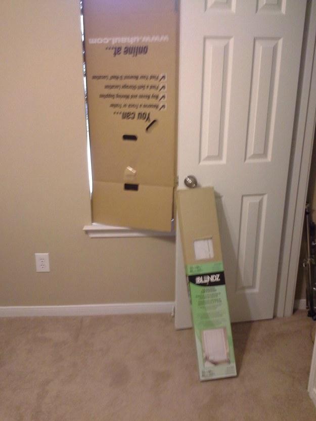 Esta caja como tope.