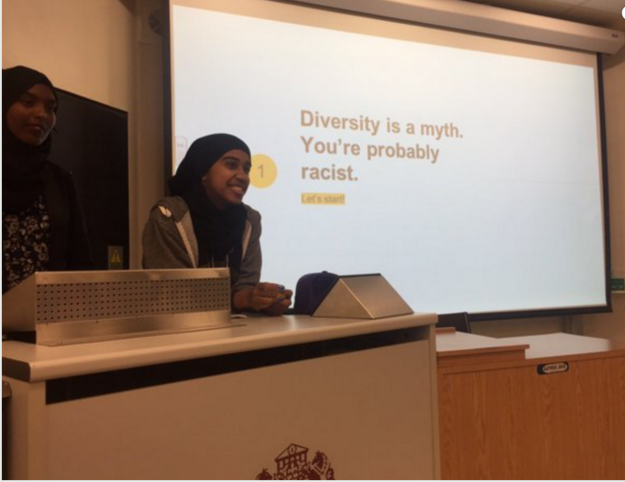 This friendly but brutal opening slide on mainstream diversity.