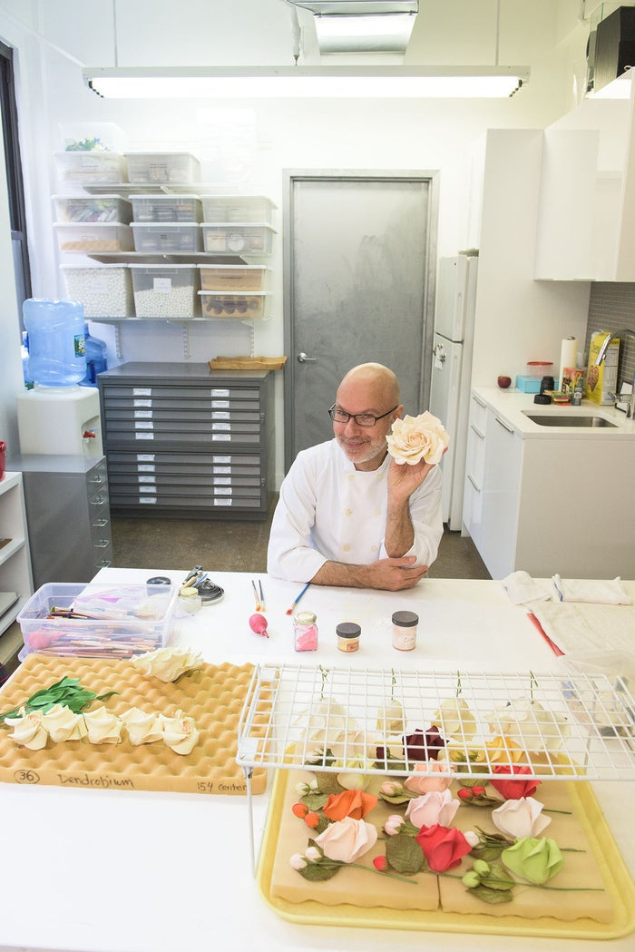 "Ben-Israel is known for his show-stopping cakes and realistic sugar flowers and The New York Times called him the ""Manolo Blahnik of wedding cakes."""