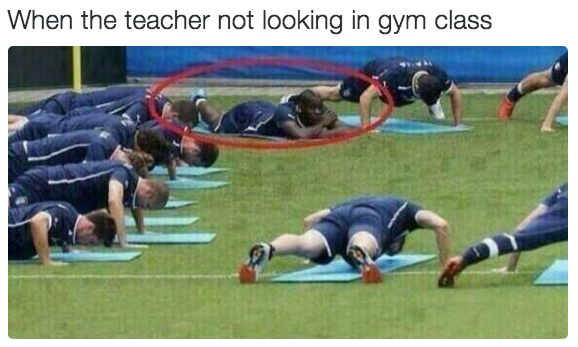 Whenever you're in gym and your main focus is not doing gym:
