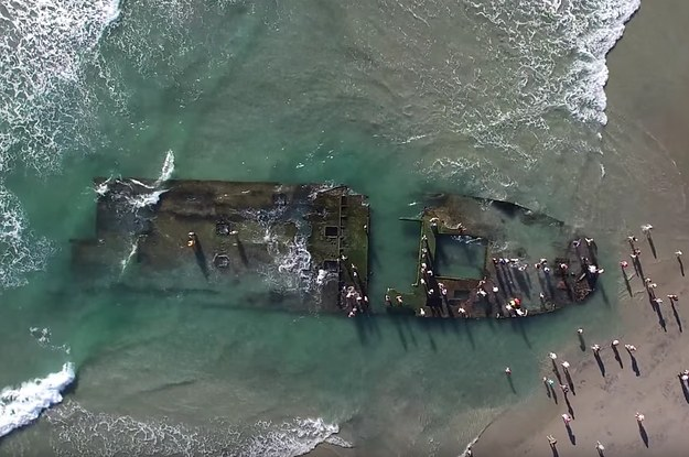 Storms Have Unveiled A Shipwreck From The 1930s In California