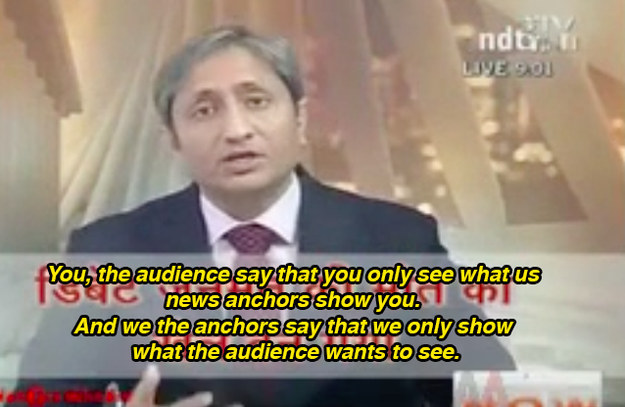 Last night, anchor Ravish Kumar went on air to host his show Prime Time like he does at 9 p.m. on most weeknights. But this time he had something different in store.