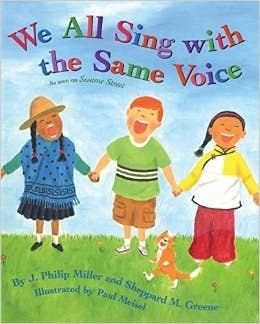 What It's About: This is a song book that connects kids around the world. The verses highlight differences between kids, illustrated on the pages of the book. The chorus brings all of these kids with many differences together, singing 'We all sing with the same voice. The same song. The same voice. We all sing with the same voice and we sing in harmony.' Why It's Important: Not only will the music engage kids as young as three, but it also encourages global awareness and connection at a young age. Everyone is different and unique, and this book celebrates those differences while singing together as friends.