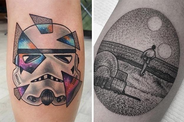 28 tatuajes de star wars que despertar n la fuerza en ti for Luke skywalker tattoo