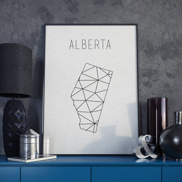 Or show off a geometric poster of your home province.